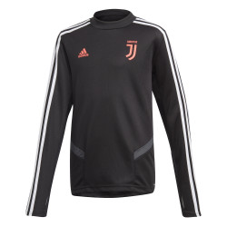 Sweat entraînement junior Juventus noir rose 2019/20