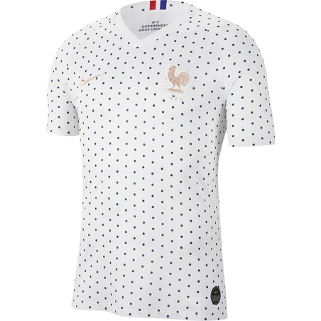 Maillot Equipe de France blanc or 2019