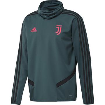 Sweat col montant Juventus vert rose 2019/20