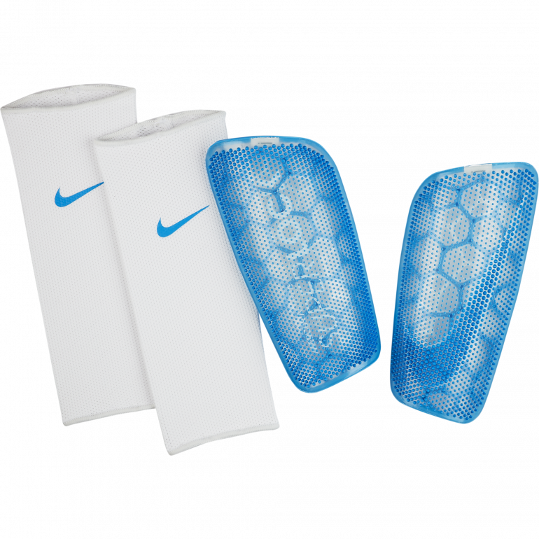 Protège tibias Nike Mercurial FlyLite Superlock bleu 2019/20
