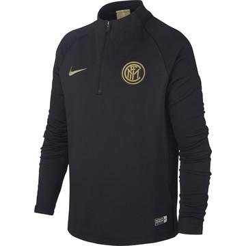 Sweat zippé junior Inter Milan noir or 2019/20