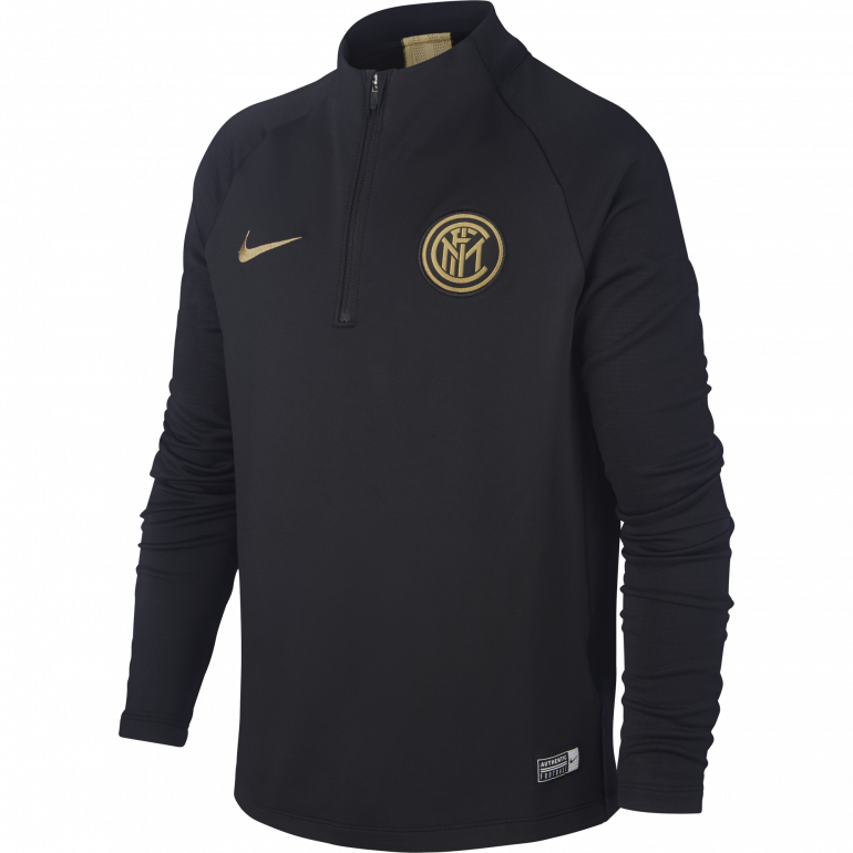 Sweat zippé junior Inter Milan noir or 2019/20