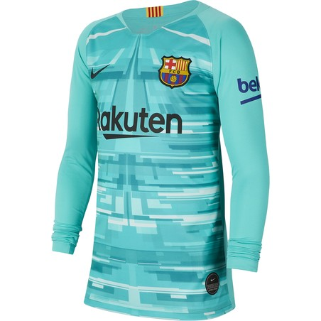 Maillot gardien junior FC Barcelone vert 2019/20