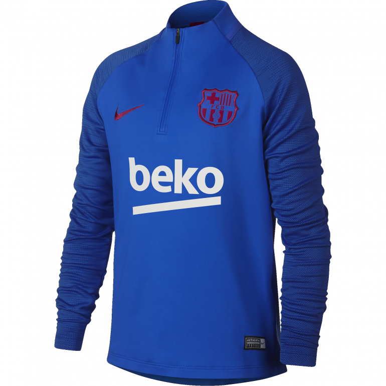 Sweat zippé junior FC Barcelone bleu 2019/20