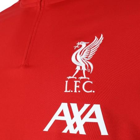 Sweat zippé Liverpool rouge 2019/20