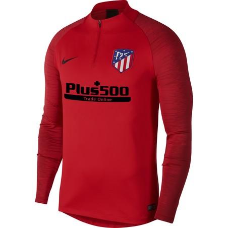 Sweat zippé Atlético Madrid rouge noir 2019/20