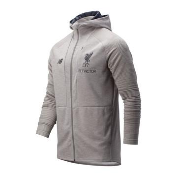 Veste survêtement à capuche Liverpool gris 2019/20