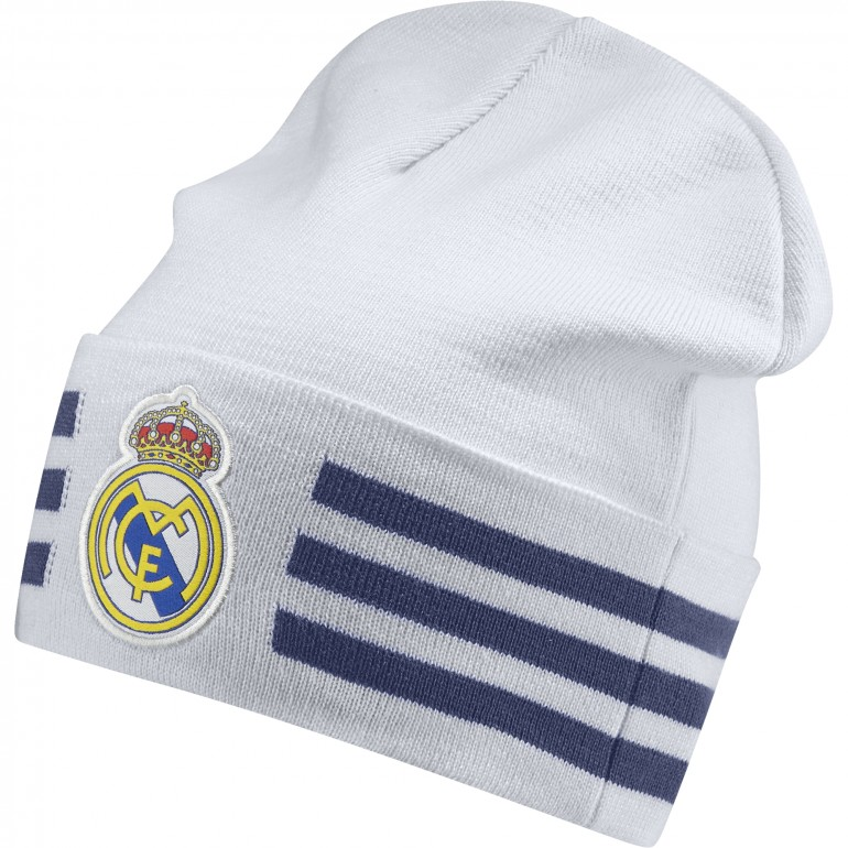 Bonnet Real Madrid 3 bandes blanc/noir 2016 - 2017