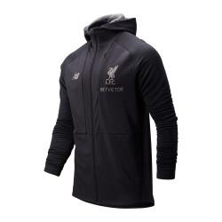 Veste survêtement à capuche Liverpool noir 2019/20