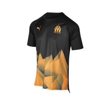 Maillot entraînement OM Stadium noir orange 2019/20