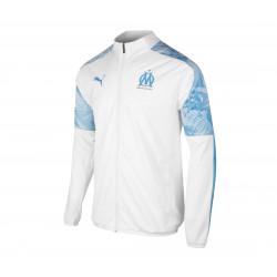 Veste survêtement OM blanc bleu 2019/20