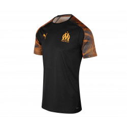 Maillot entraînement junior OM noir orange 2019/20