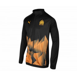 Veste survêtement junior OM Stadium noir orange 2019/20