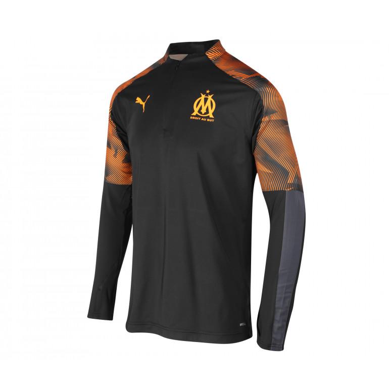 Sweat zippé junior OM noir orange 2019/20