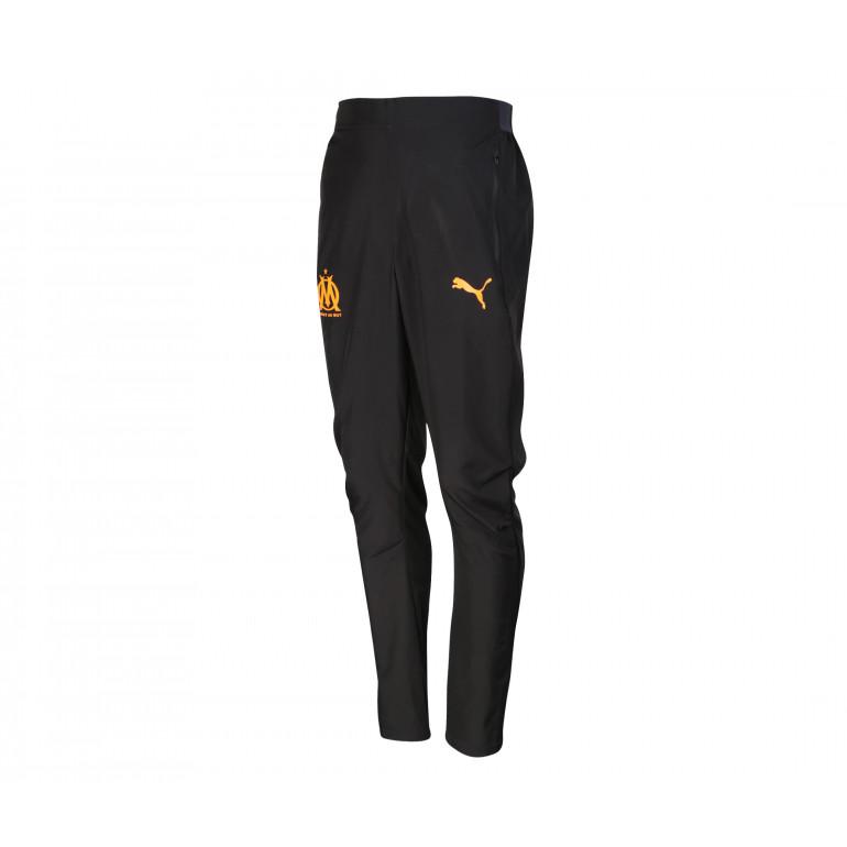 Pantalon survêtement OM micro fibre noir orange 2019/20