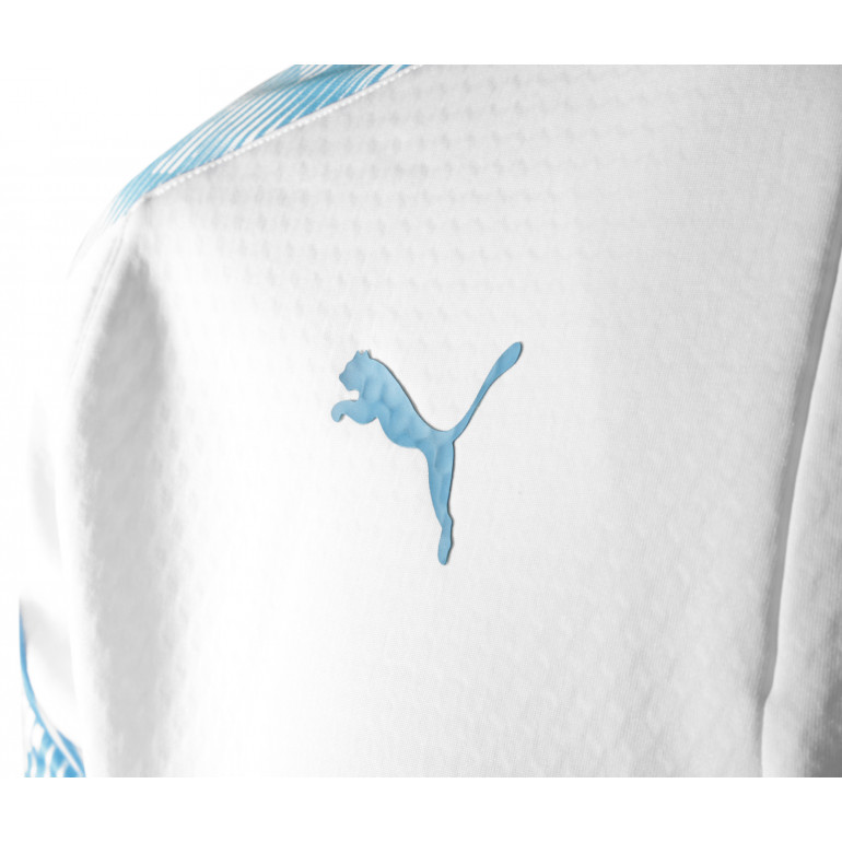 24676b577a01b Sweat zippé OM Fleece blanc bleu 2019/20
