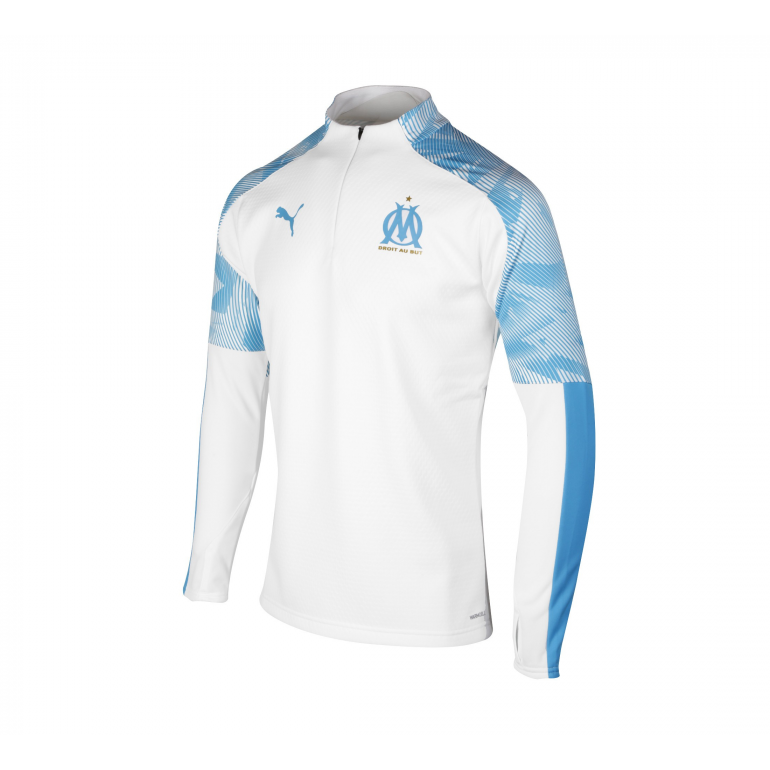 Sweat zippé OM Fleece blanc bleu 2019/20