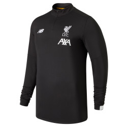 Sweat zippé junior Liverpool noir 2019/20