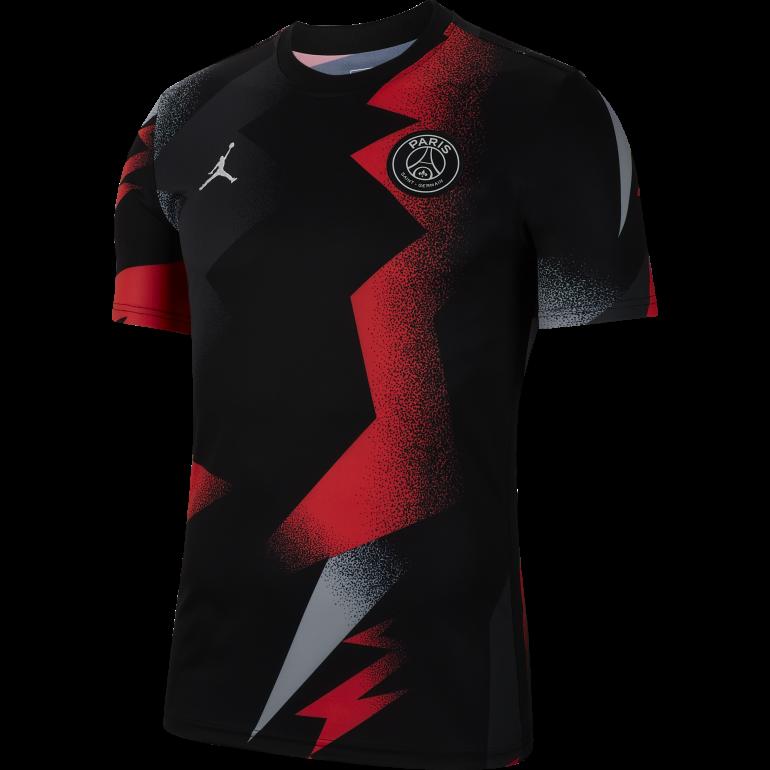 Maillot entraînement PSG Jordan graphic noir rouge 2019/20