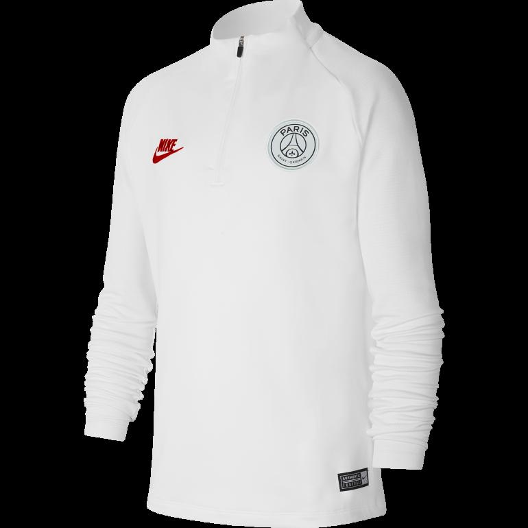 Sweat zippé junior PSG blanc 2019/20