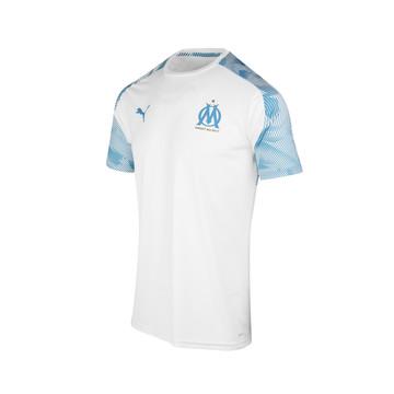 Maillot entraînement junior OM blanc bleu 2019/20