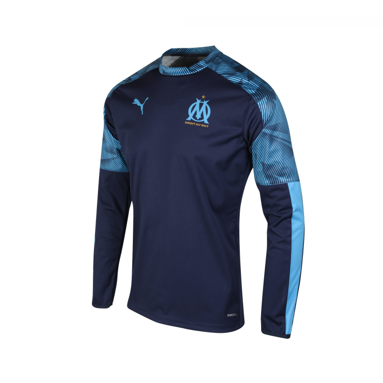 Sweat entraînement OM bleu foncé 2019/20