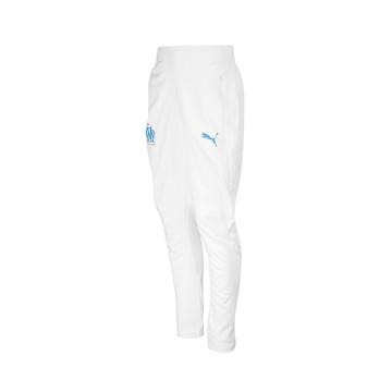 Pantalon survêtement OM micro fibre blanc 2019/20