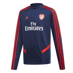 Sweat entraînement junior Arsenal bleu rouge 2019/20