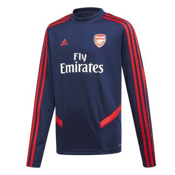 Sweat entraînement junior Arsenal bleu rouge 2019/20