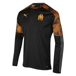 Sweat entraînement OM noir orange 2019/20