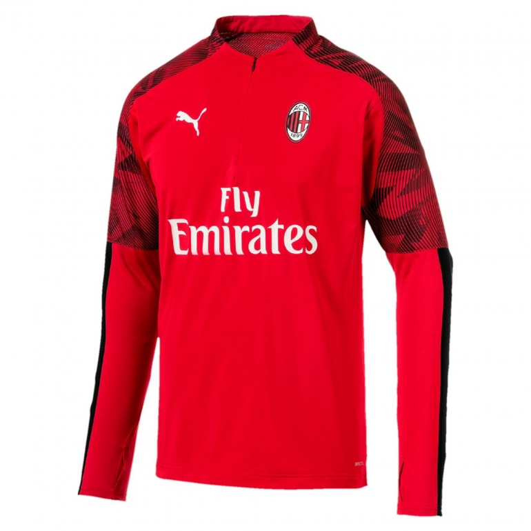 Sweat zippé Milan AC rouge 2019/20
