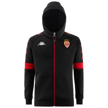 Veste survêtement capuche AS Monaco noir 2019/20