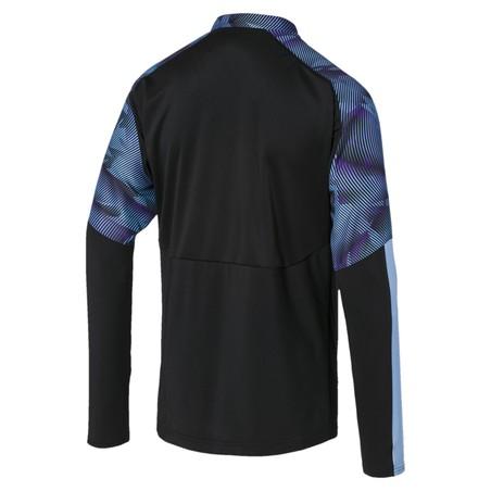 Sweat zippé Manchester City noir bleu 2019/20