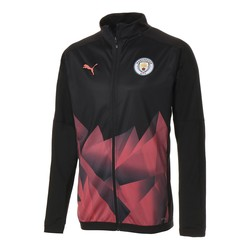 Veste survêtement Manchester City Stadium noir orange 2019/20