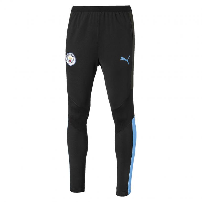 Pantalon entraînement Manchester City noir bleu 2019/20