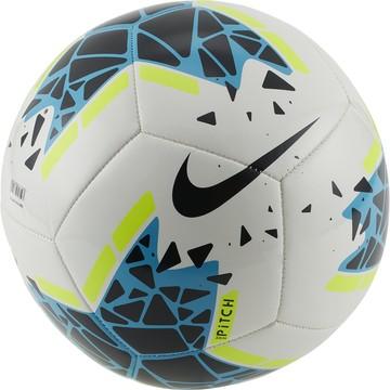 Ballon Nike Pitch blanc bleu 2019/20
