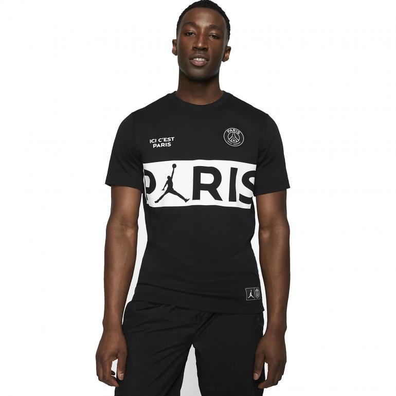 T-shirt Lifestyle PSG Jordan noir 2019/20