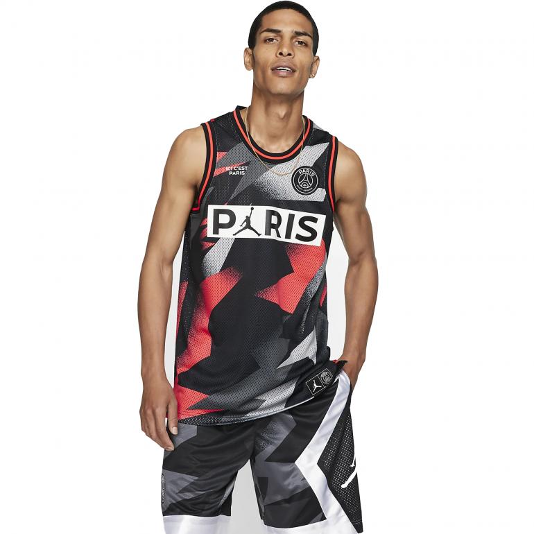 Débardeur PSG Jordan Lifestyle noir rouge 2019/20