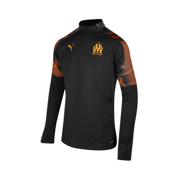 Sweat zippé OM Fleece noir orange 2019/20