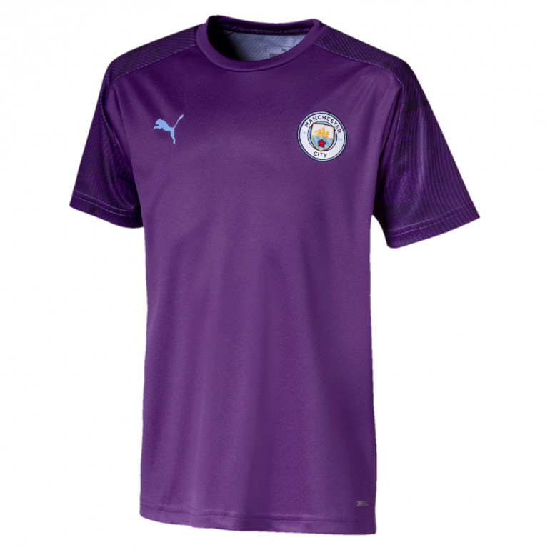 Maillot entraînement junior Manchester City violet 2019/20