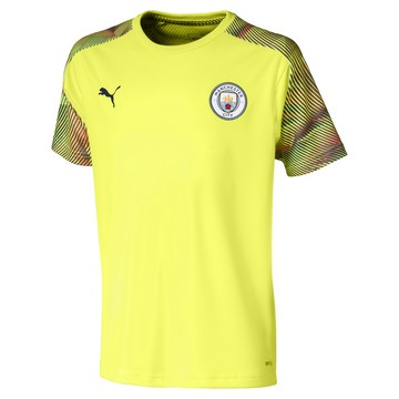 Maillot entraînement junior Manchester City jaune 2019/20