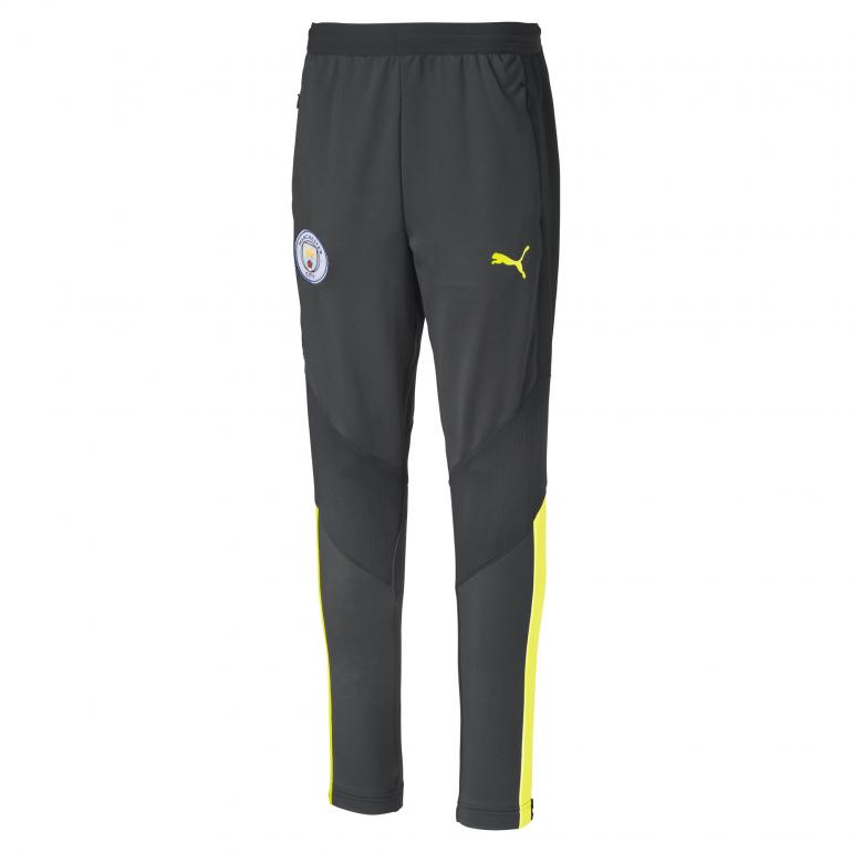 Pantalon entraînement junior Manchester City gris jaune 2019/20
