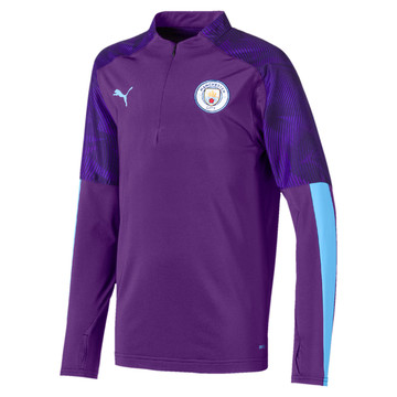 Sweat zippé junior Manchester City violet 2019/20
