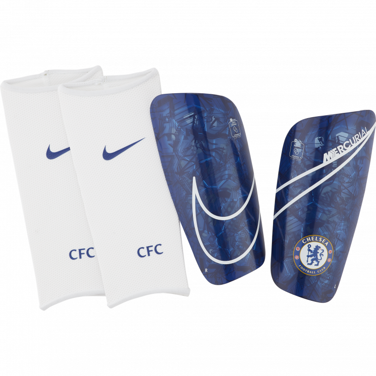 Protège tibias Chelsea bleu blanc 2019/20