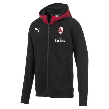 Veste survêtement capuche Milan AC noir 2019/20