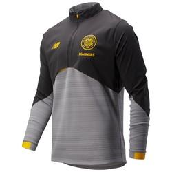 Sweat zippé Celtic Glasgow Elite noir jaune 2019/20