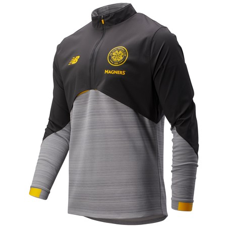 Sweat zippé Celtic Glasgow Elite noir jaune 2019/20