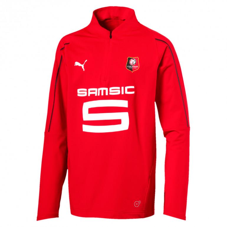 Sweat sippé junior Stade Rennais rouge 2019/20