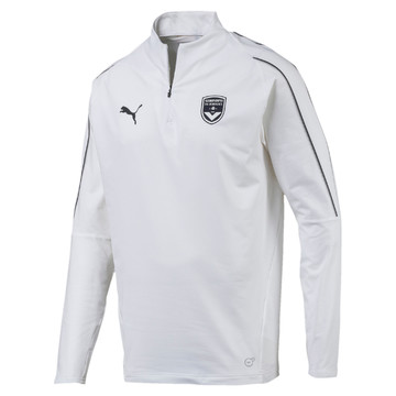 Sweat zippé Bordeaux blanc 2019/20