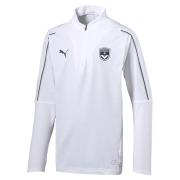 Sweat zippé junior Bordeaux blanc 2019/20